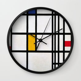 Piet Mondrian Composition in Red, Blue,and Yellow Wall Clock