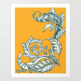 crosshatched filligree Art Print