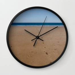 Footprints in the sand -  landscape Wall Clock