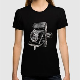 Vintage Watercolor Camera - Zeiss Ikon Folding Camera  T-shirt