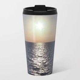 Sunset, Santorini Travel Mug