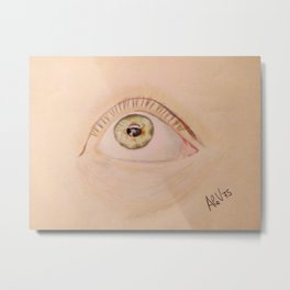 Open Your Beautiful Eyes, and See the Light (Signature) Metal Print