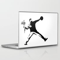 banksy Laptop & iPad Skins featuring #TheJumpmanSeries, Banksy by @thepeteyrich