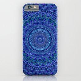 Blue Floral Ornate Mandala iPhone Case