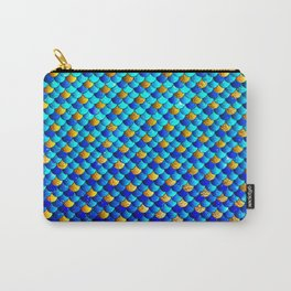 Ocean Blue Mermaid Scales -Beautiful Abstract Glitter Pattern Carry-All Pouch