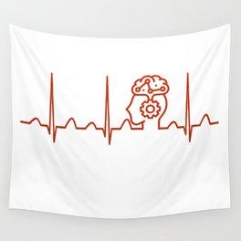 Psychiatrist Heartbeat Wall Tapestry
