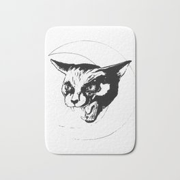 Hissing at the Moon Bath Mat