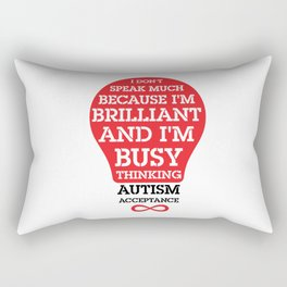 Autism Acceptance I'm Brilliant Rectangular Pillow