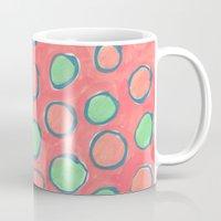 polka dot Mugs featuring polka dot by Jenni Freidman