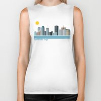 montreal Biker Tanks featuring Montreal City by loogart