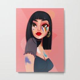 Face paint girl Metal Print