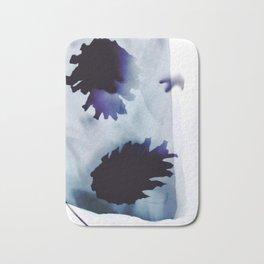 Photogram, pine cones, negative, blue Bath Mat
