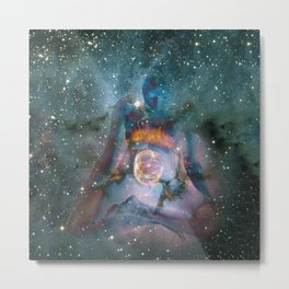 6689 Birthing the Universe a Feminine Power Collage by Chris Maher Metal Print
