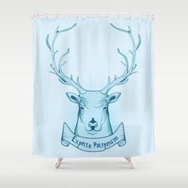 Expecto Patronum- Harry Potter Shower Curtain