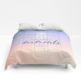 Words to live by - Collect moments Sunset Comforters