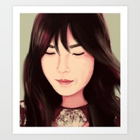 snsd Art Prints featuring Tae by Kayla Nicole
