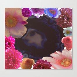 AGATE FLOWERS Canvas Print