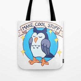 Make Cool Stuff owl emblem Tote Bag