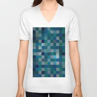 blues V-neck T-shirts featuring Blues by Mila Harper