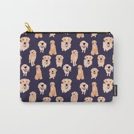 Golden Retrievers on Navy Carry-All Pouch