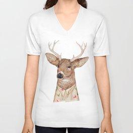 White Tailed Deer Unisex V-Neck