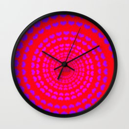 MOM HEARTED - Red Wall Clock