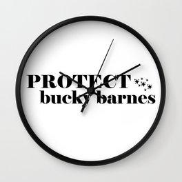 Protect Bucky Barnes Wall Clock
