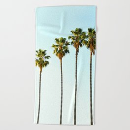 Four Palm Trees Beach Towel