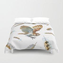 Barn Owl Landing  Duvet Cover