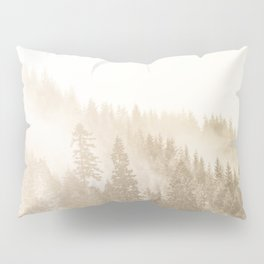 Vintage Sepia Fir Trees Pillow Sham