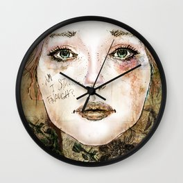 Indelicate Thorns Wall Clock