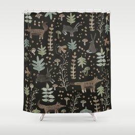 Woodland Nature at Night Shower Curtain