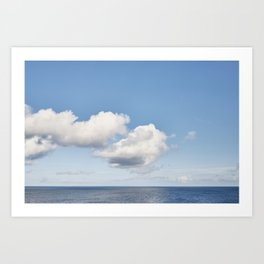 Cornish Autumn Seascape. Art Print