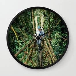 Vine Bridge of Death: Papua New Guinea Wall Clock