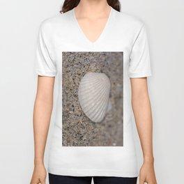 Sea shell on the beach Unisex V-Neck