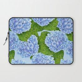 Blue hydrangea watercolor pattern Laptop Sleeve