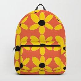 Black Eyed Susan On Coral Backpack