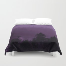 Purple Fog Duvet Cover