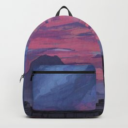 Sunrise behind Vesuvius, New Year Backpack