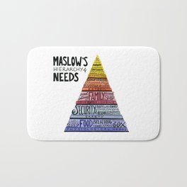 Maslow's Hierarchy of Needs Bath Mat