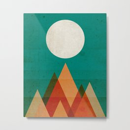 Full moon over Sahara desert Metal Print