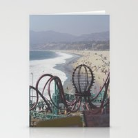 santa monica Stationery Cards featuring Santa Monica by Liv Cartmill