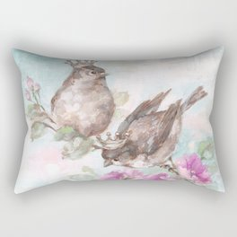 French Crown Songbirds I Rectangular Pillow