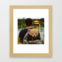 "Man N Bear ""Kinkakuji Temple"" Framed Art Print"