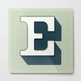 BOLD 'E' DROPCAP Metal Print
