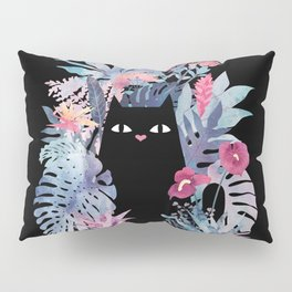 Popoki (Pastel Black Velvet) Pillow Sham