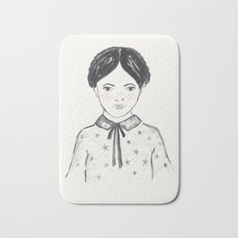 A little girl and the stars Bath Mat