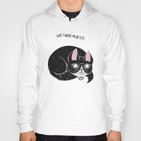 loll3 Hoodies featuring Home is where my Cat is by lOll3