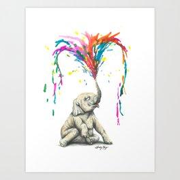 Elephun Art Print