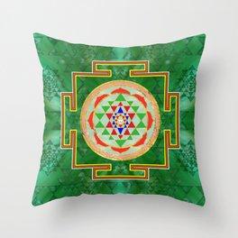 Sri Yantra  / Sri Chakra in color Throw Pillow